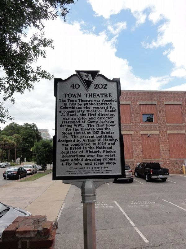 Town Theatre Marker image. Click for full size.