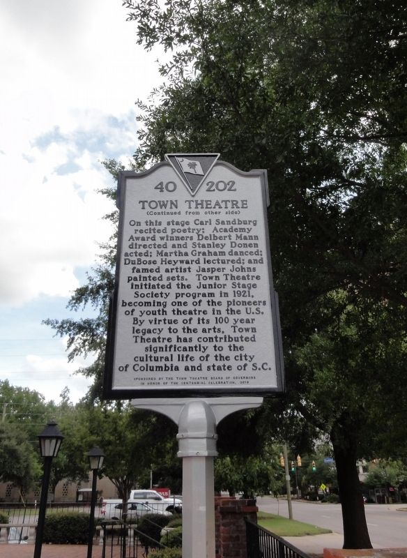 Town Theatre Marker side 2 image. Click for full size.
