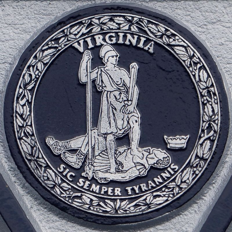 Virginia State Seal<br><i>Sic Semper Tyrannis</i> image. Click for full size.