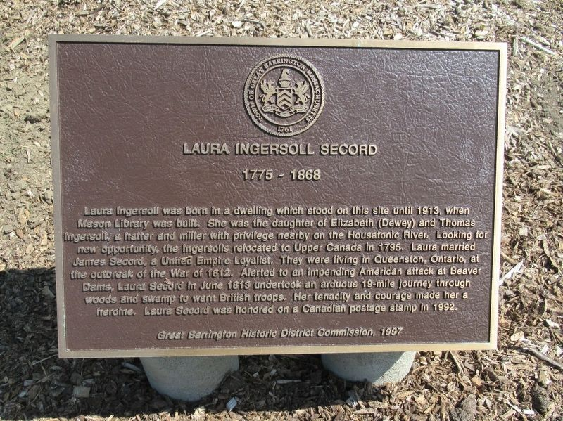Laura Ingersoll Secord Marker image. Click for full size.