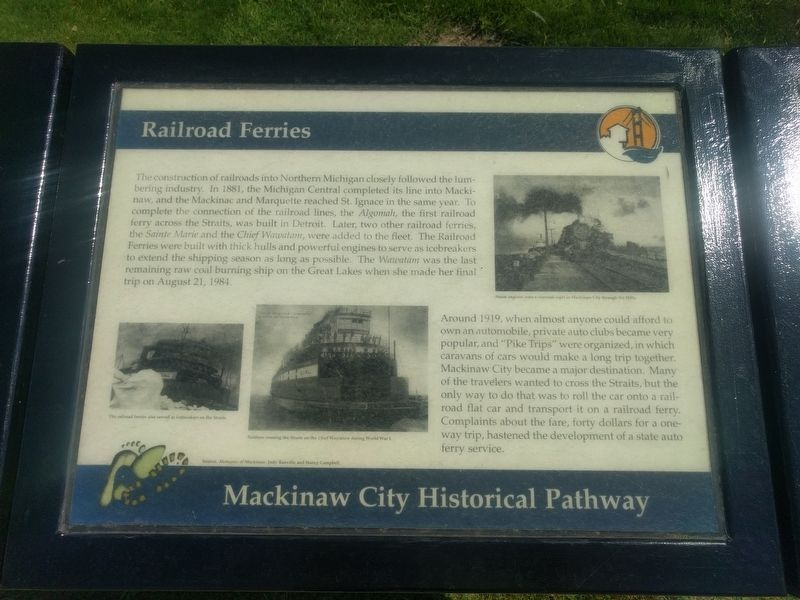 Railroad Ferries Marker image. Click for full size.
