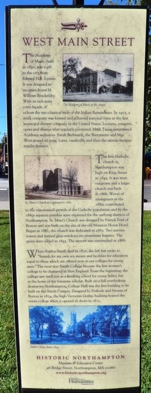 West Main Street Marker image. Click for full size.