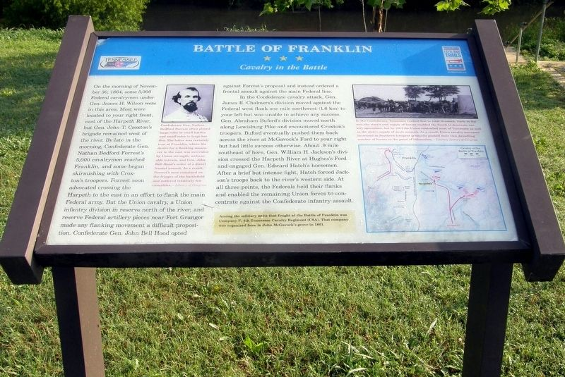 The Battle of Franklin Marker image. Click for full size.