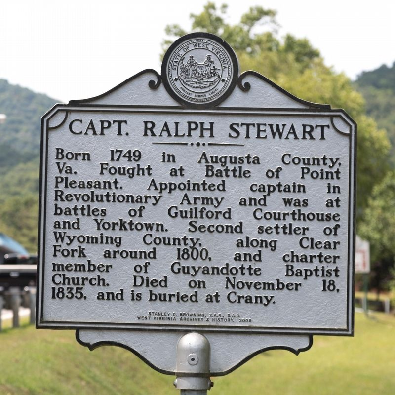 Capt. Ralph Stewart Marker image. Click for full size.