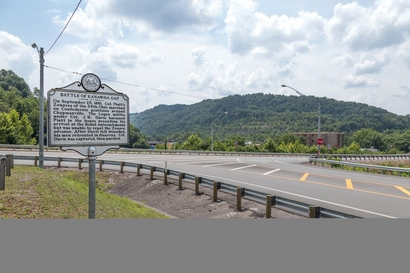 Battle of Kanawha Gap Marker image. Click for full size.