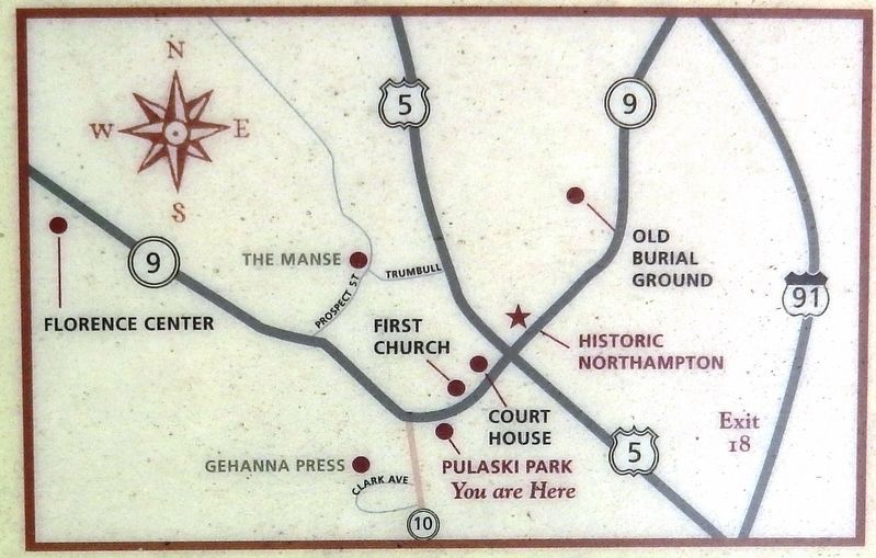 Marker detail: Historic Northampton Map image. Click for full size.