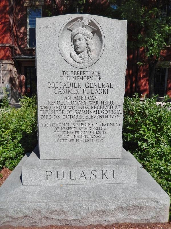 Pulaski Memorial<br>(<i>located about 20 yards south of marker</i>) image. Click for full size.