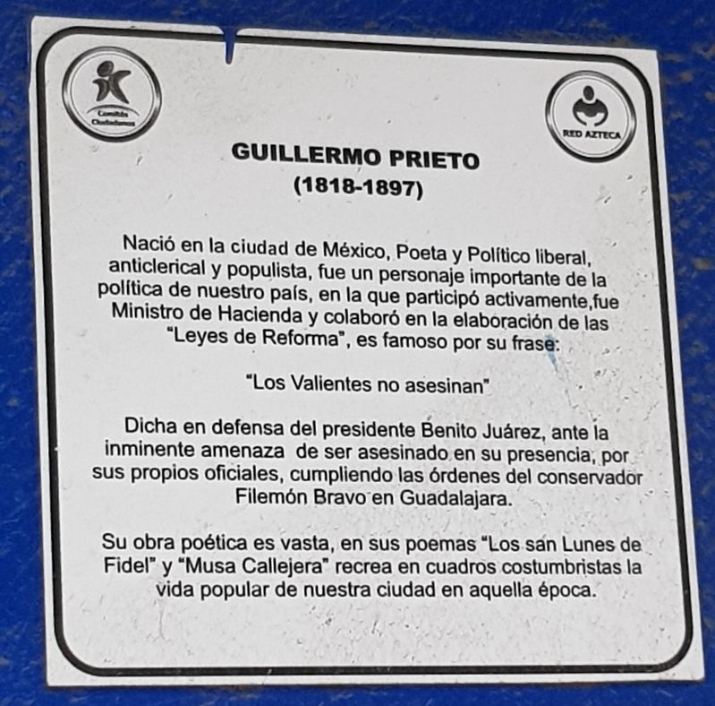Guillermo Prieto Marker image. Click for full size.