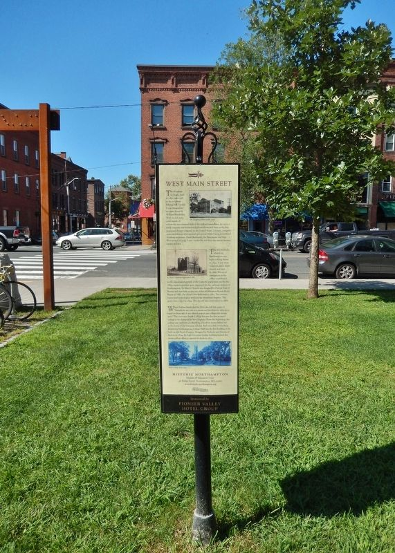 West Main Street Marker<br>(<i>tall view looking north • Main Street in backround</i>) image. Click for full size.