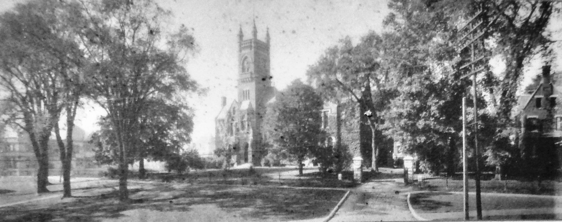 Marker detail: Smith College about 1895 image. Click for full size.