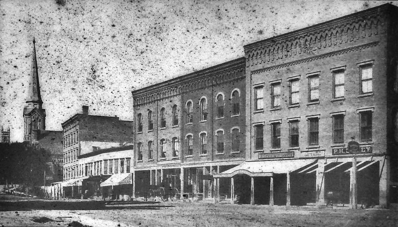 Marker detail: Upper Main Street in the 1870s image. Click for full size.