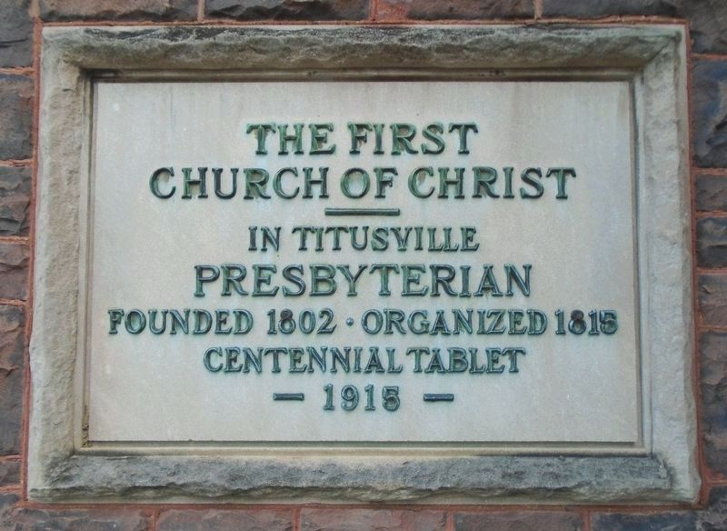 The First Church of Christ in Titusville Marker image. Click for full size.