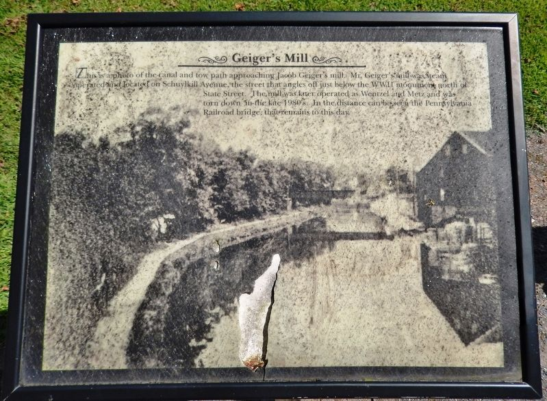 Geiger's Mill Marker image. Click for full size.