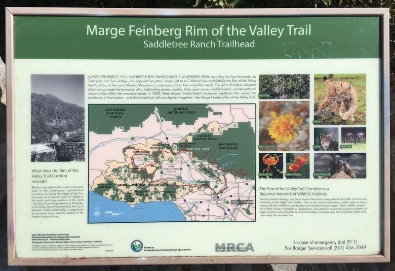 Rim of the Valley Trail Marker image. Click for full size.