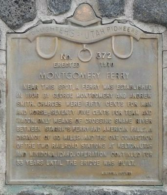 Montgomery Ferry Marker image. Click for full size.