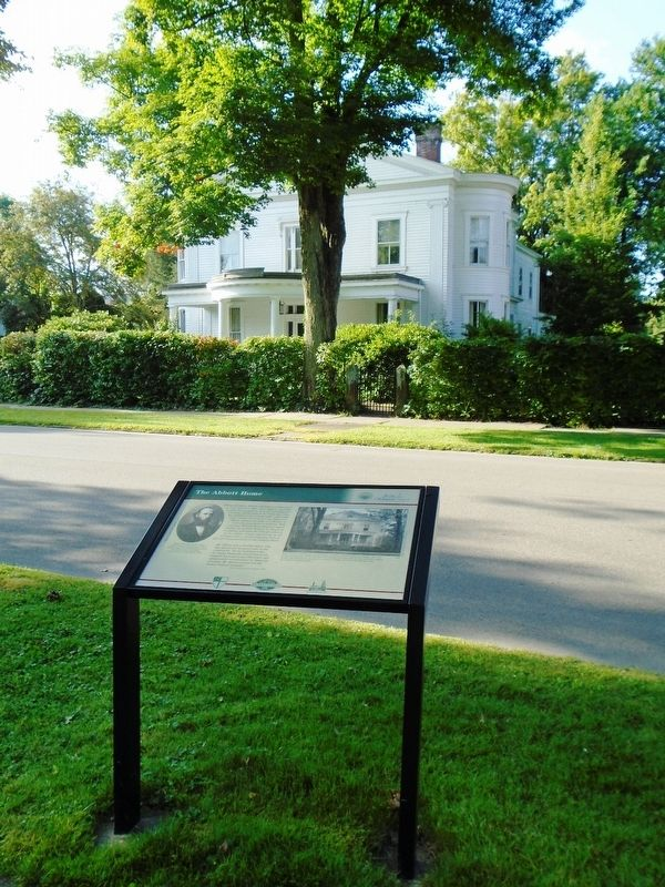 The Abbott Home and Marker image. Click for full size.
