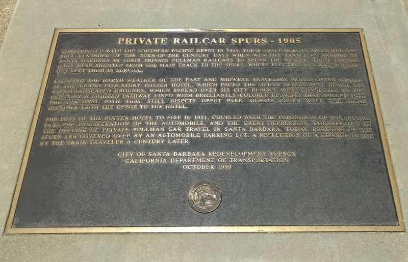 Private Railcar Spurs Marker image. Click for full size.