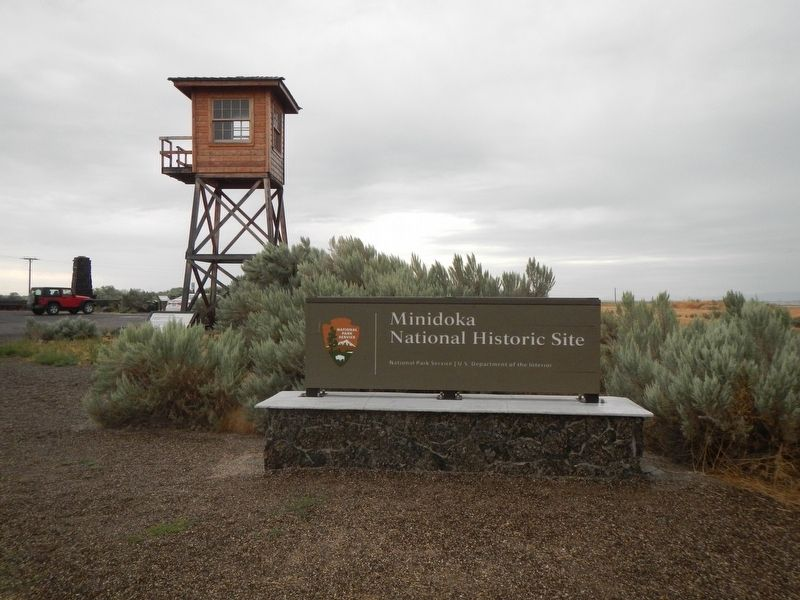 Entrance to Minidoka National Historic Site image. Click for full size.