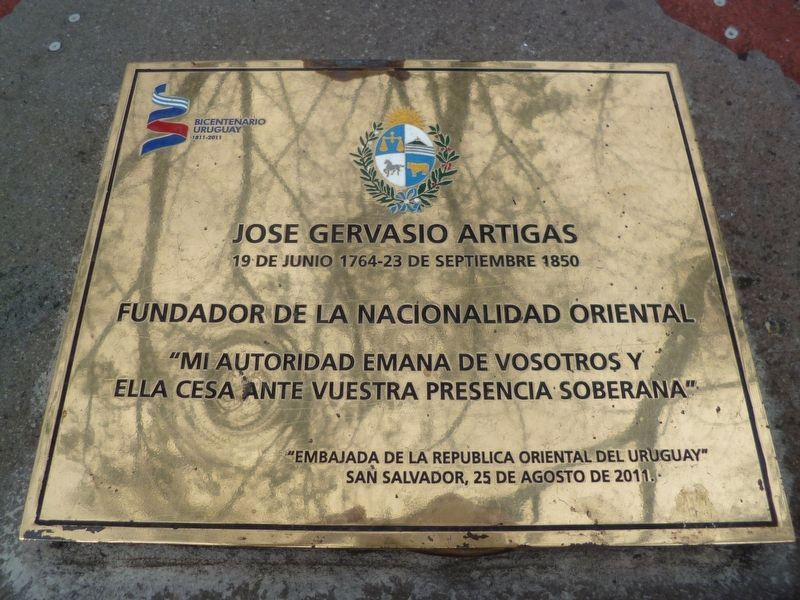 An additional General José Artigas Marker image. Click for full size.