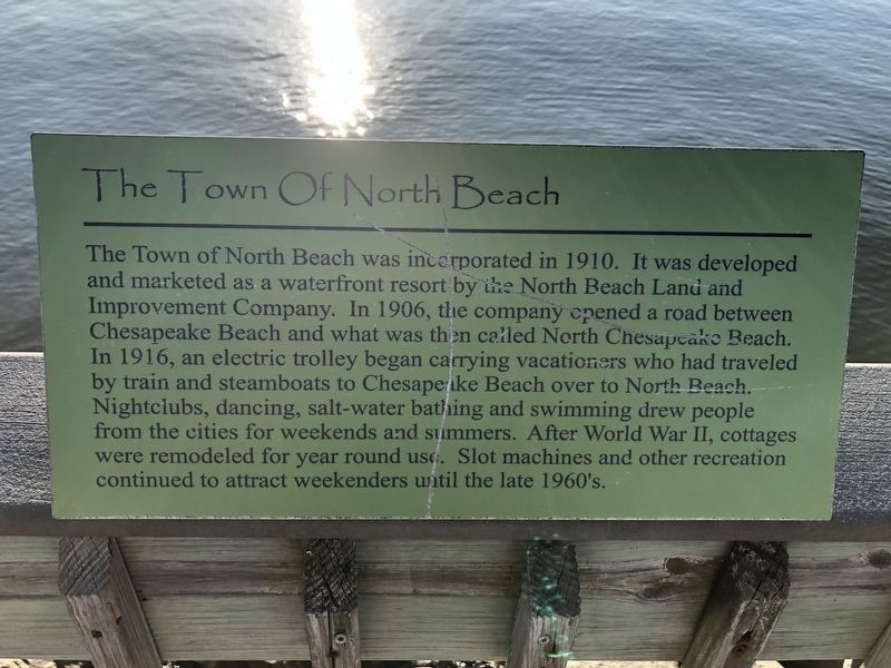 The Town of North Beach Marker image. Click for full size.
