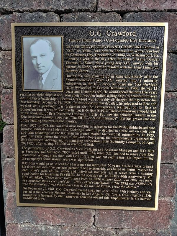 O.G. Crawford Marker image. Click for full size.