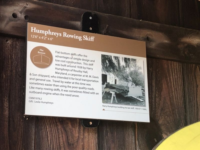 Humphreys Rowing Skiff Marker image. Click for full size.