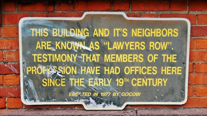 Lawyer's Row Marker image. Click for full size.