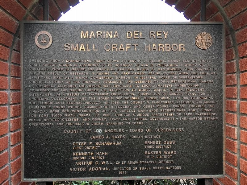 Marina Del Rey Marker image. Click for full size.