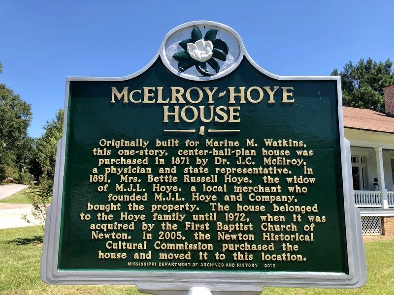 McElroy-Hoye House Marker image. Click for full size.