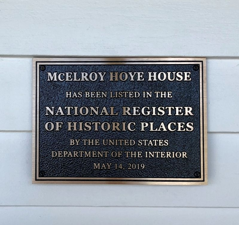2019 NRHP plaque on the house. image. Click for full size.