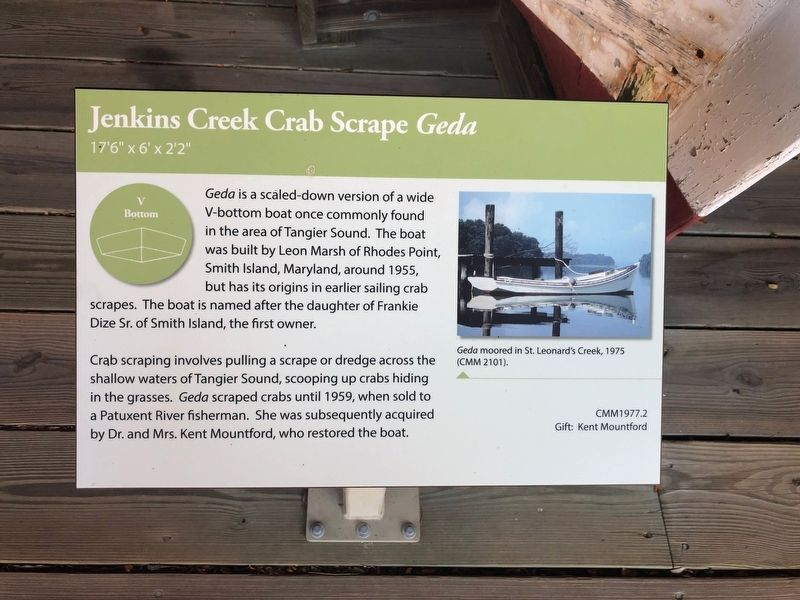 Jenkins Creek Crab Scrape <i>Geda</i> Marker image. Click for full size.