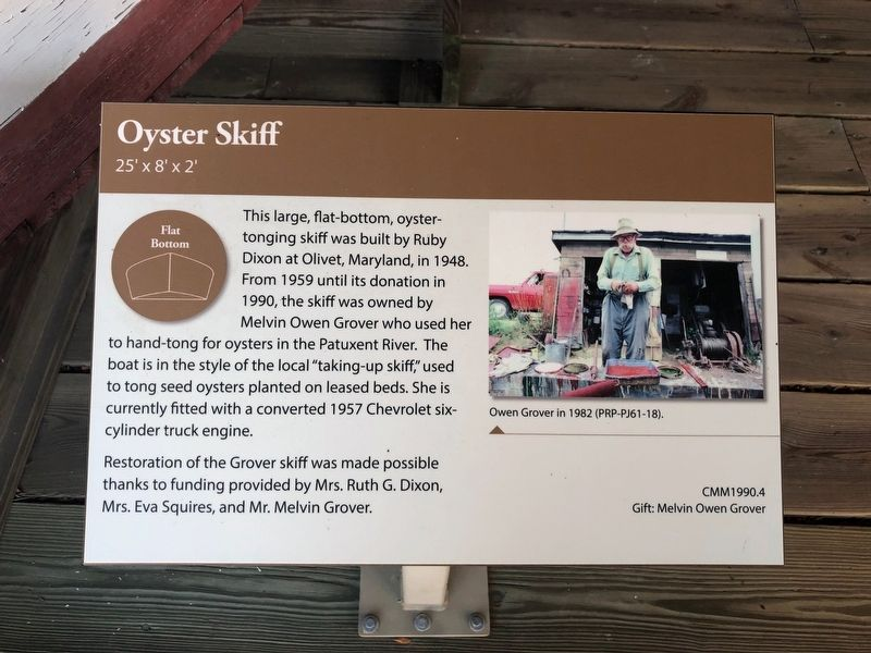 Oyster Skiff Marker image. Click for full size.