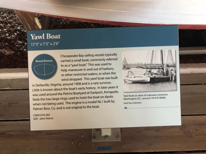 Yawl Boat Marker image. Click for full size.