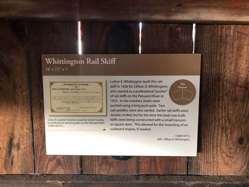 Whittington Rail Skiff Marker image. Click for full size.