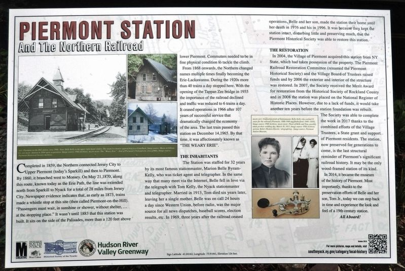 Piermont Station Marker image. Click for full size.