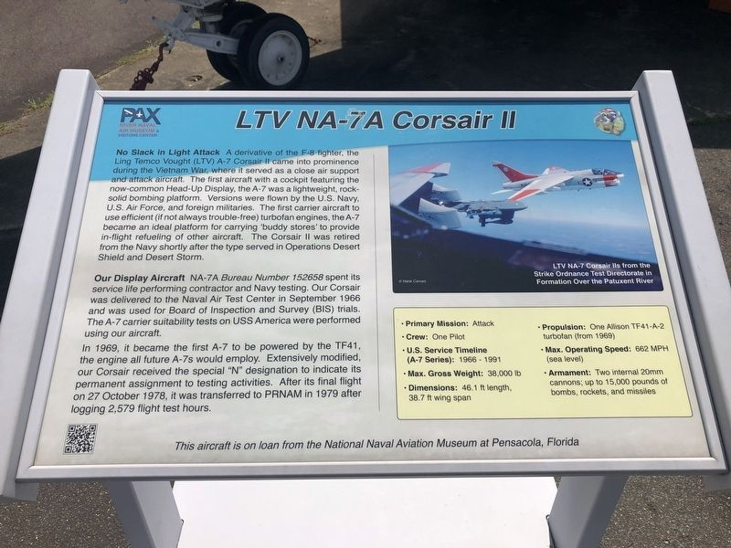 LTV NA-7A Corsair II Marker image. Click for full size.