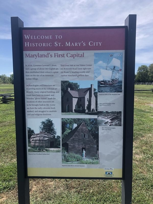 Maryland's First Capital Marker image. Click for full size.