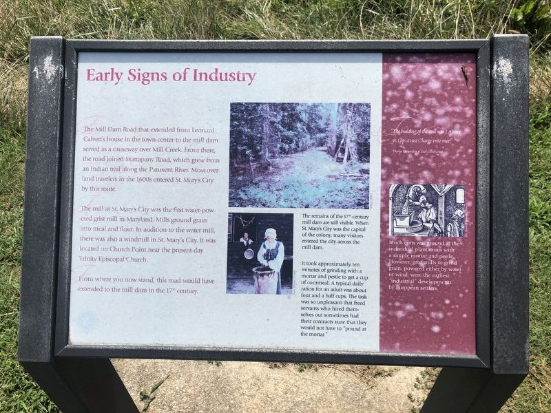 Early Signs of Industry Marker image. Click for full size.