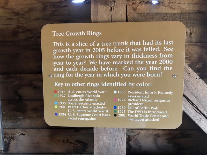Tree Growth Rings Marker image. Click for full size.
