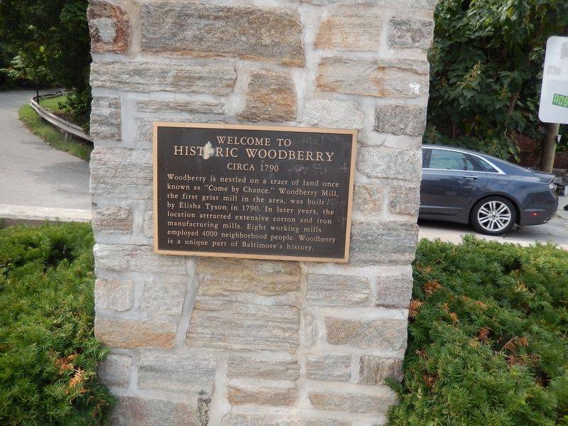 Historic Woodberry Marker image. Click for full size.