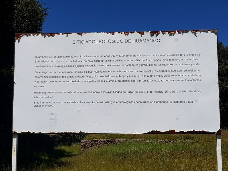 Huamango Archaeological Site Marker image. Click for full size.