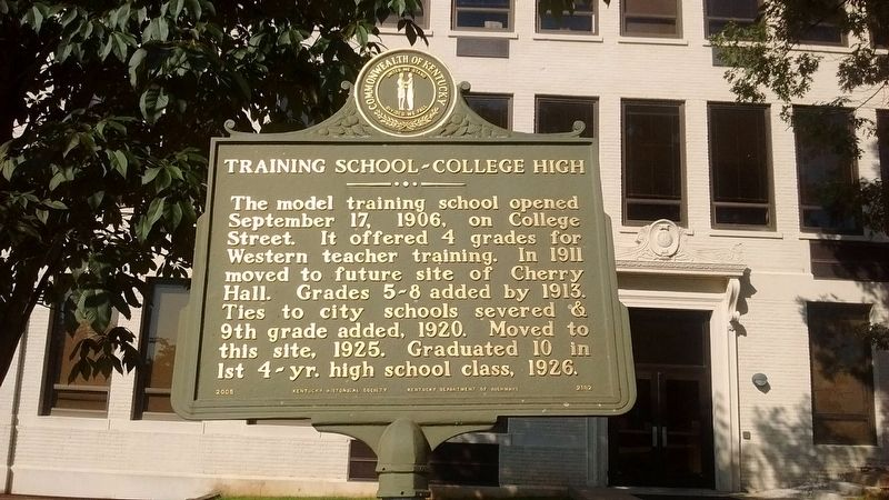 Training School-College High Marker (Side 1) image. Click for full size.