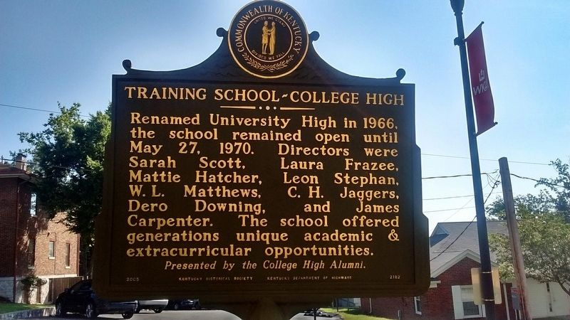 Training School-College High Marker (Side 2) image. Click for full size.