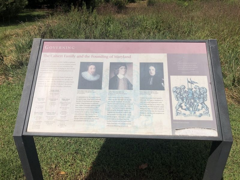The Calvert Family and the Founding of Maryland Marker image. Click for full size.