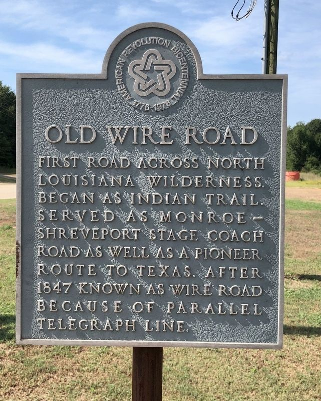 Old Wire Road Marker image. Click for full size.