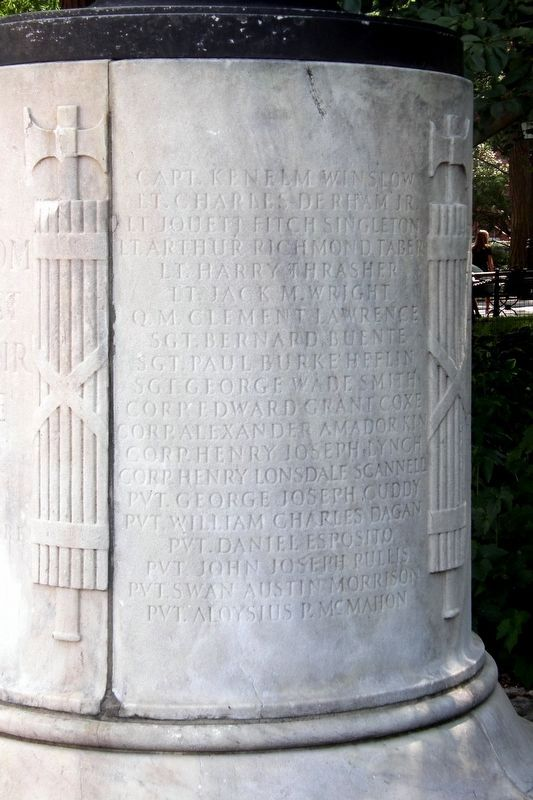 Washington Square WWI Memorial image. Click for full size.