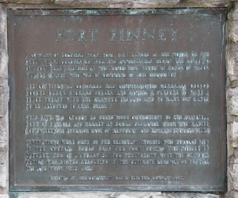 Miami Fort / Fort Finney Marker image. Click for full size.