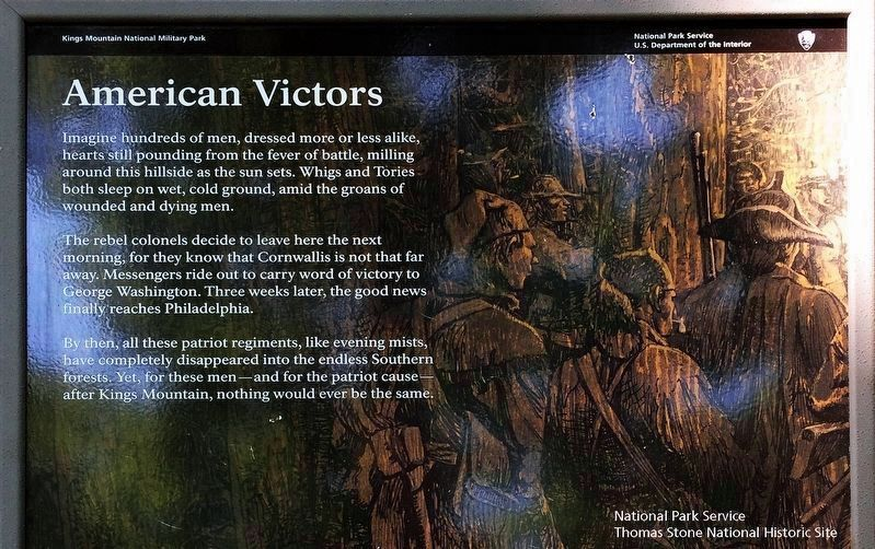 American Victors Marker (Upper two-thirds of marker) image. Click for full size.