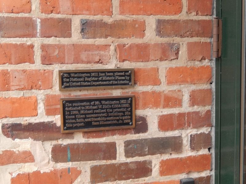 Mt. Washington Mill National Register Historic Places Plaque image. Click for full size.
