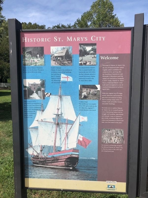 Historic St. Mary's City Marker image. Click for full size.